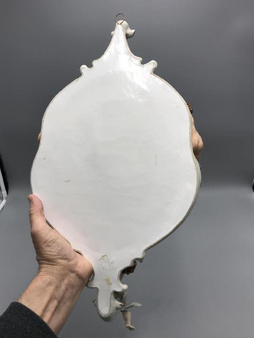 Capodimonte wall mirror candle sconce - 4