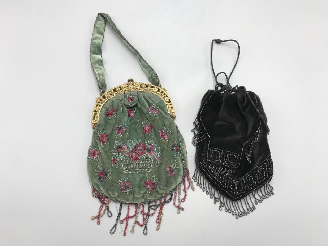 Two beaded handbags