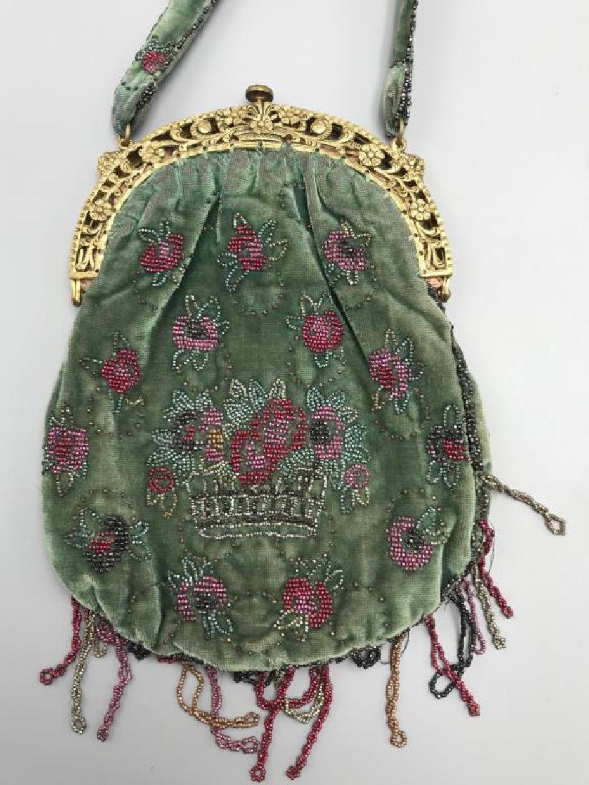 Two beaded handbags - 3