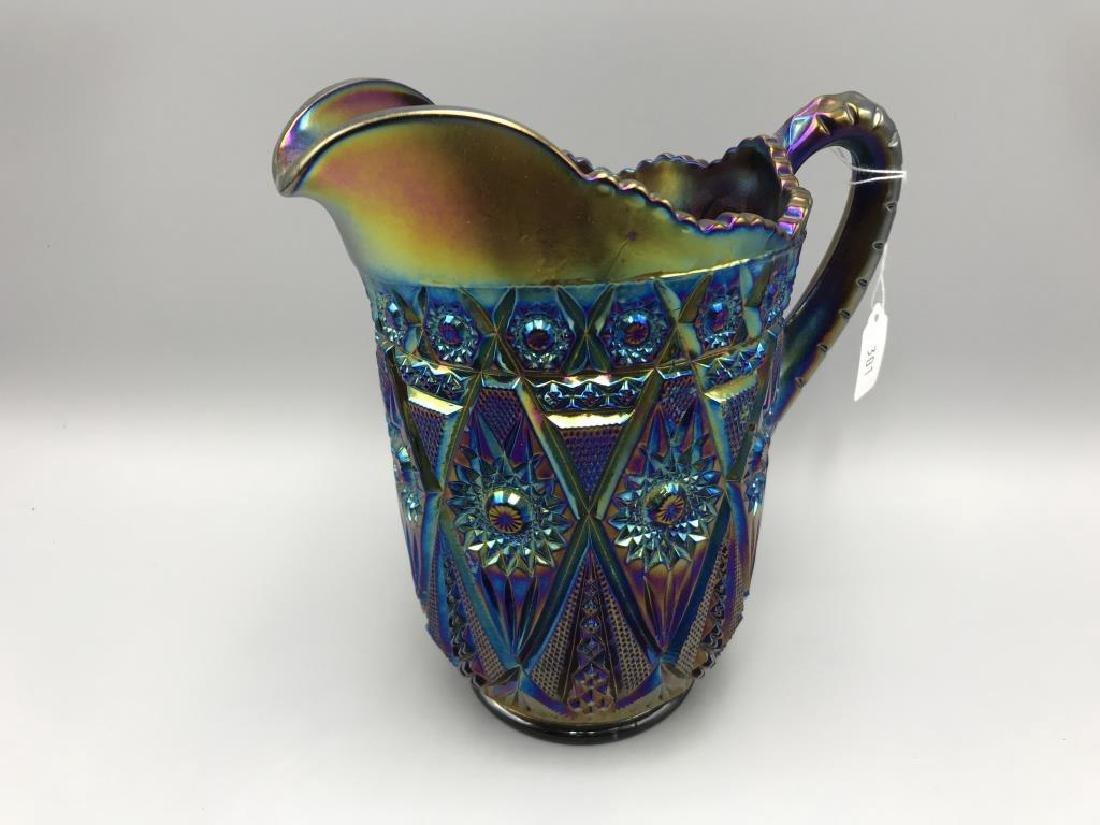 Amethyst carnival glass  water set; - 3