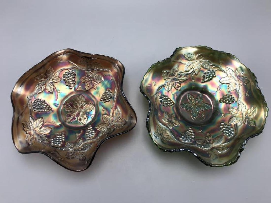 Lot of two carnival glass bowls