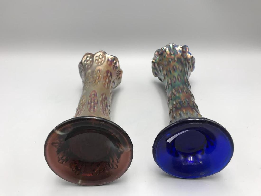 Lot of two carnival glass vases - 2
