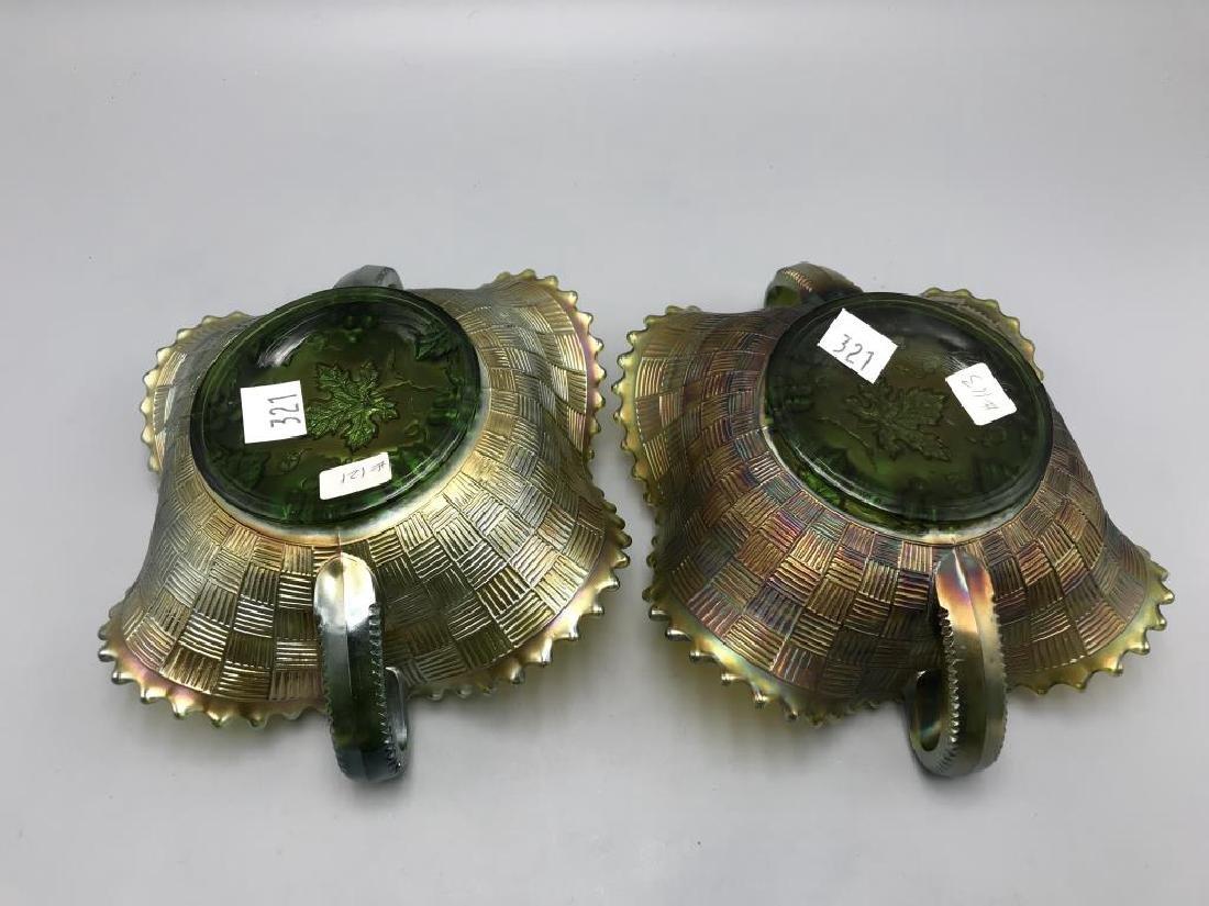 lot of three green carnival bowls - 4
