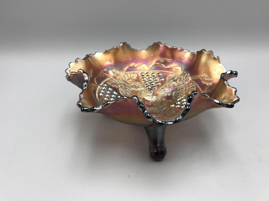 Lot of 2 carnival glass bowls; - 6