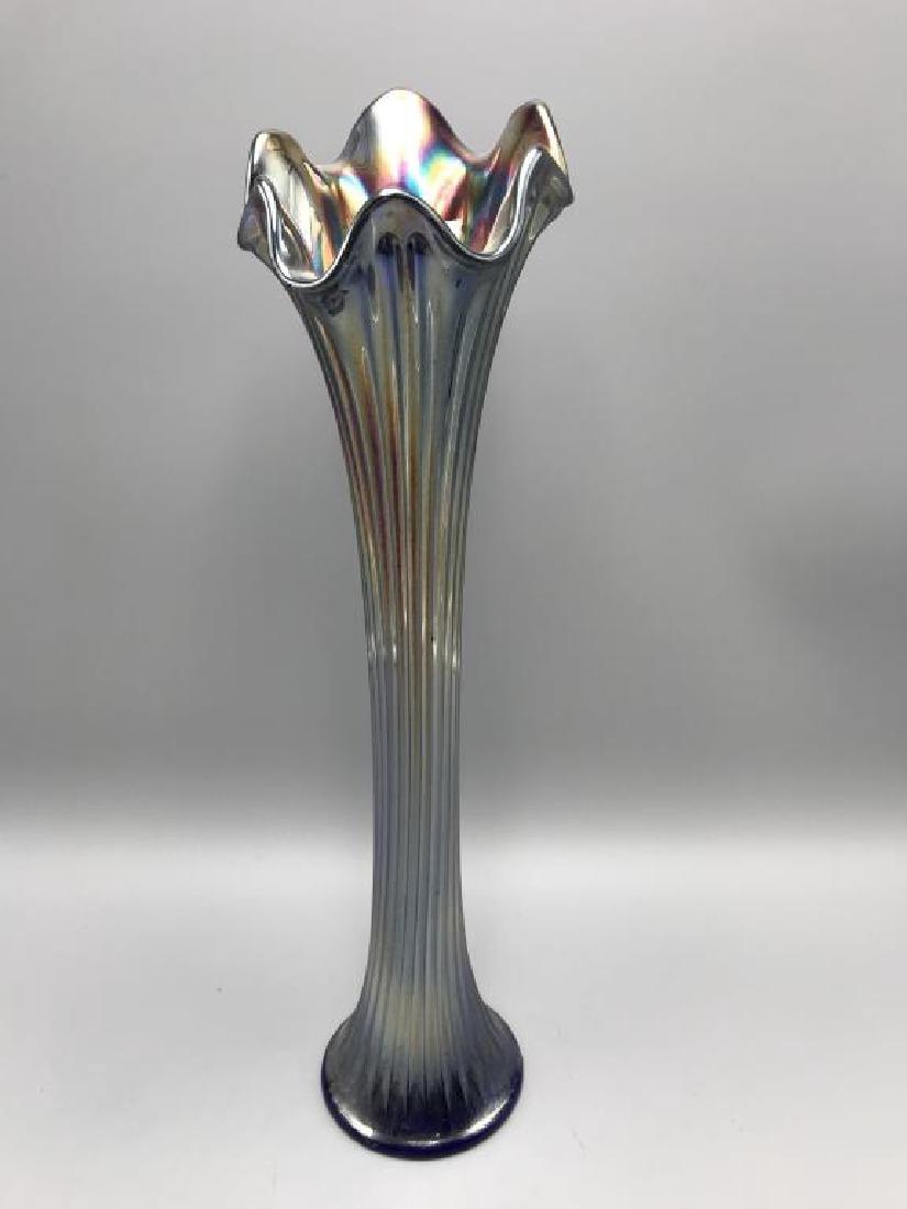 Carnival glass funeral vase