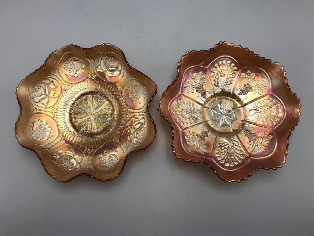 Lot of 2 Carnival glass bowls