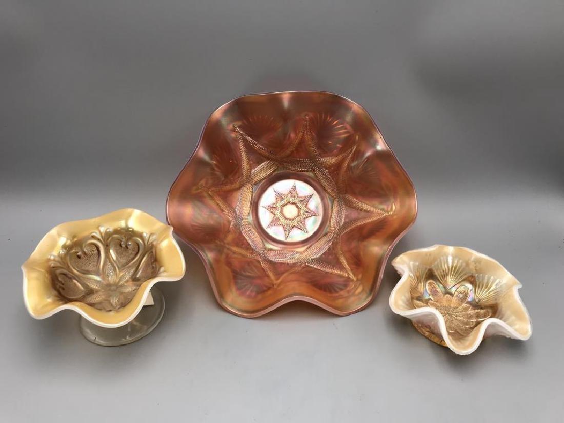 Lot of 3 Carnival bowls