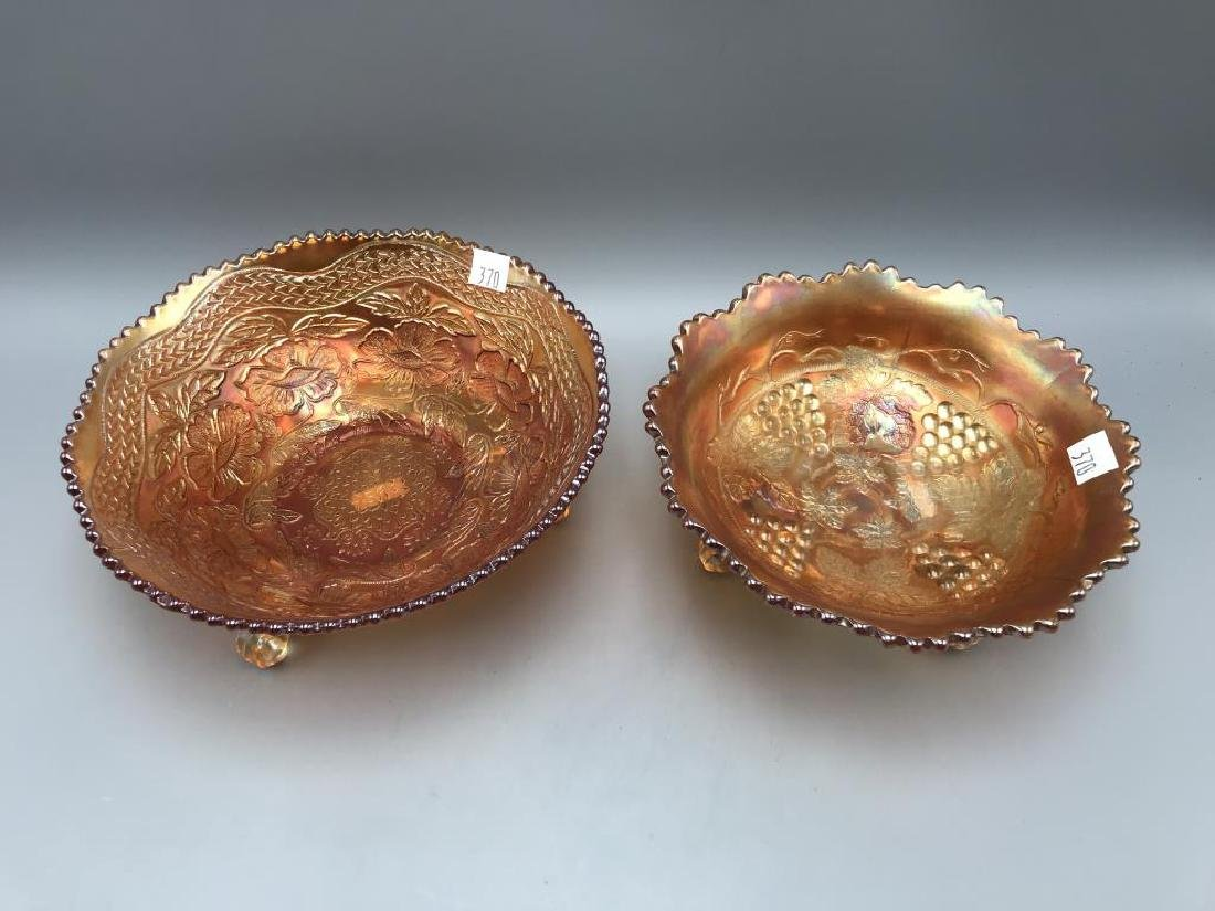 Lot of two marigold carnival footed bowl's - 2