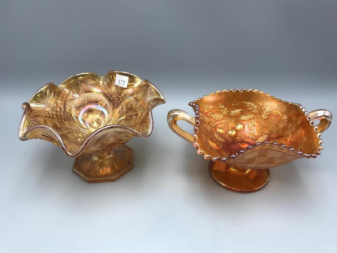 Lot of two marigold carnival bowls