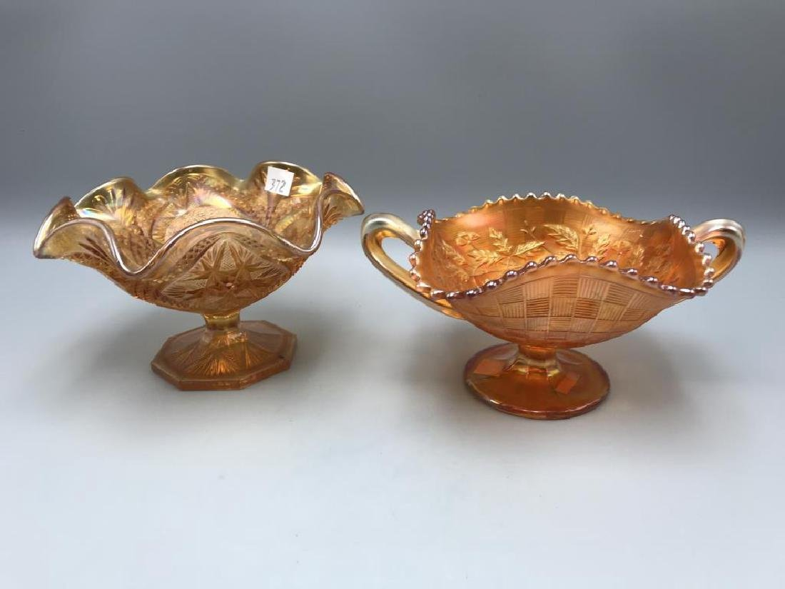 Lot of two marigold carnival bowls - 3