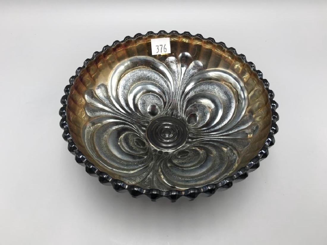 Lot of three carnival glass bowls - 3