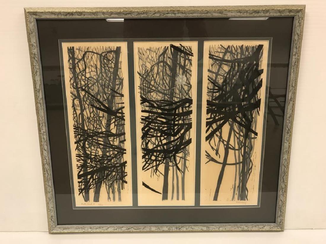 Ninon Lacy woodblock