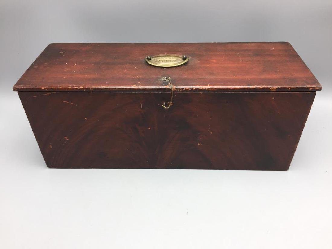 Early wooden dovetailed box