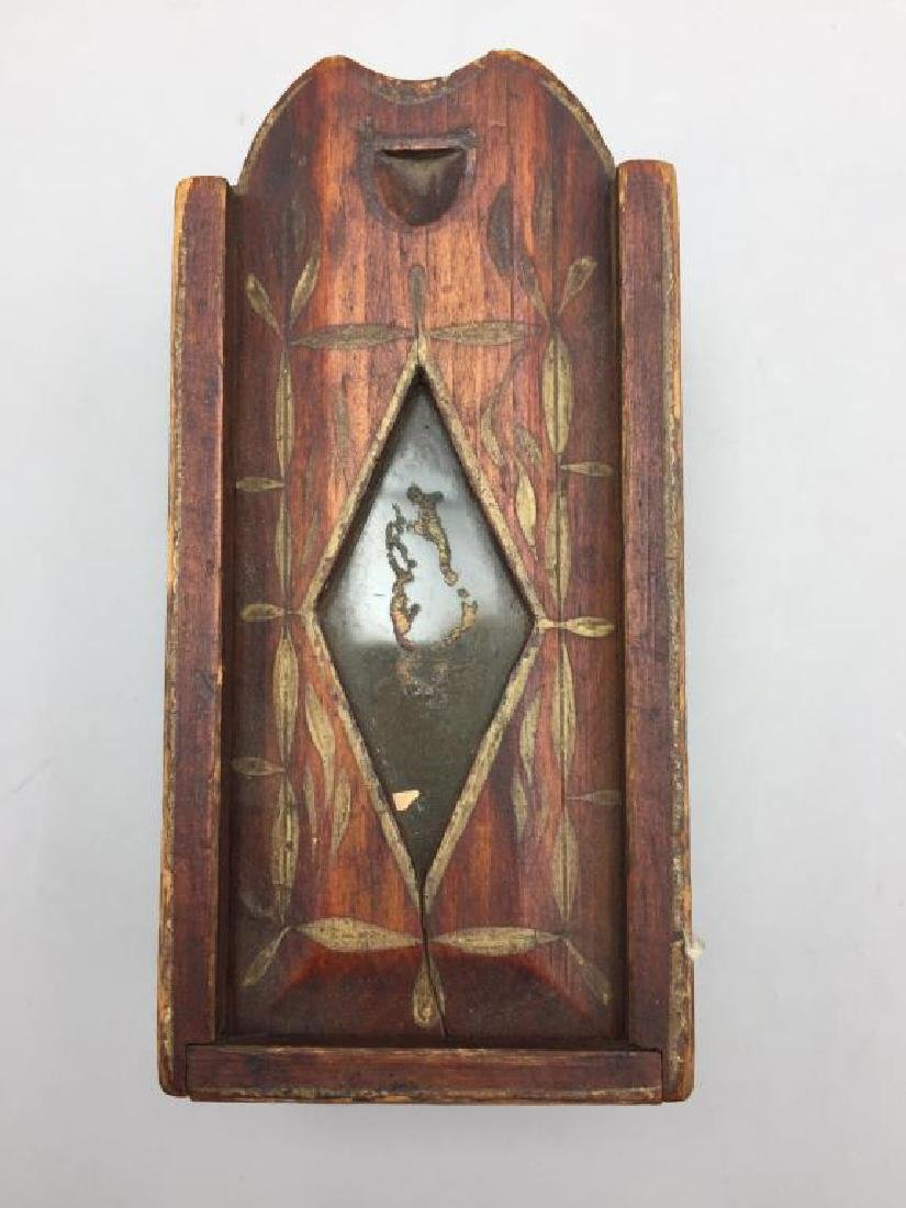 Early miniature wooden slide box