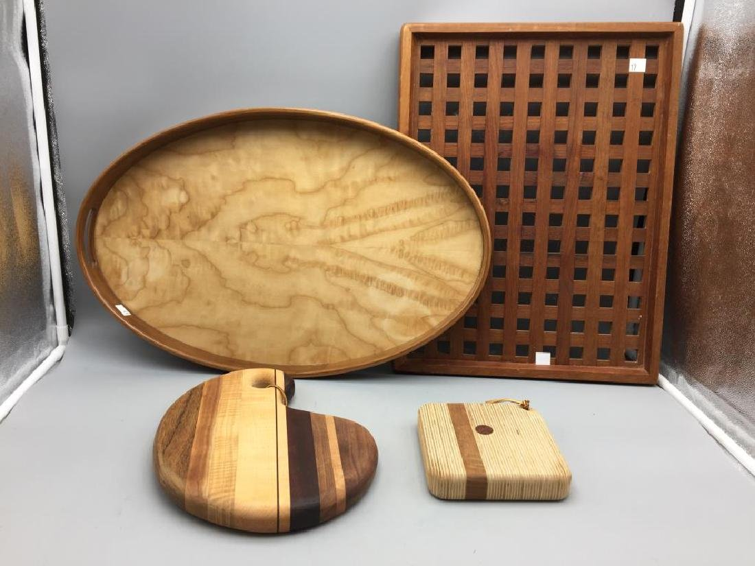 Wooden items including Dansk; 19 inch x 14 inch