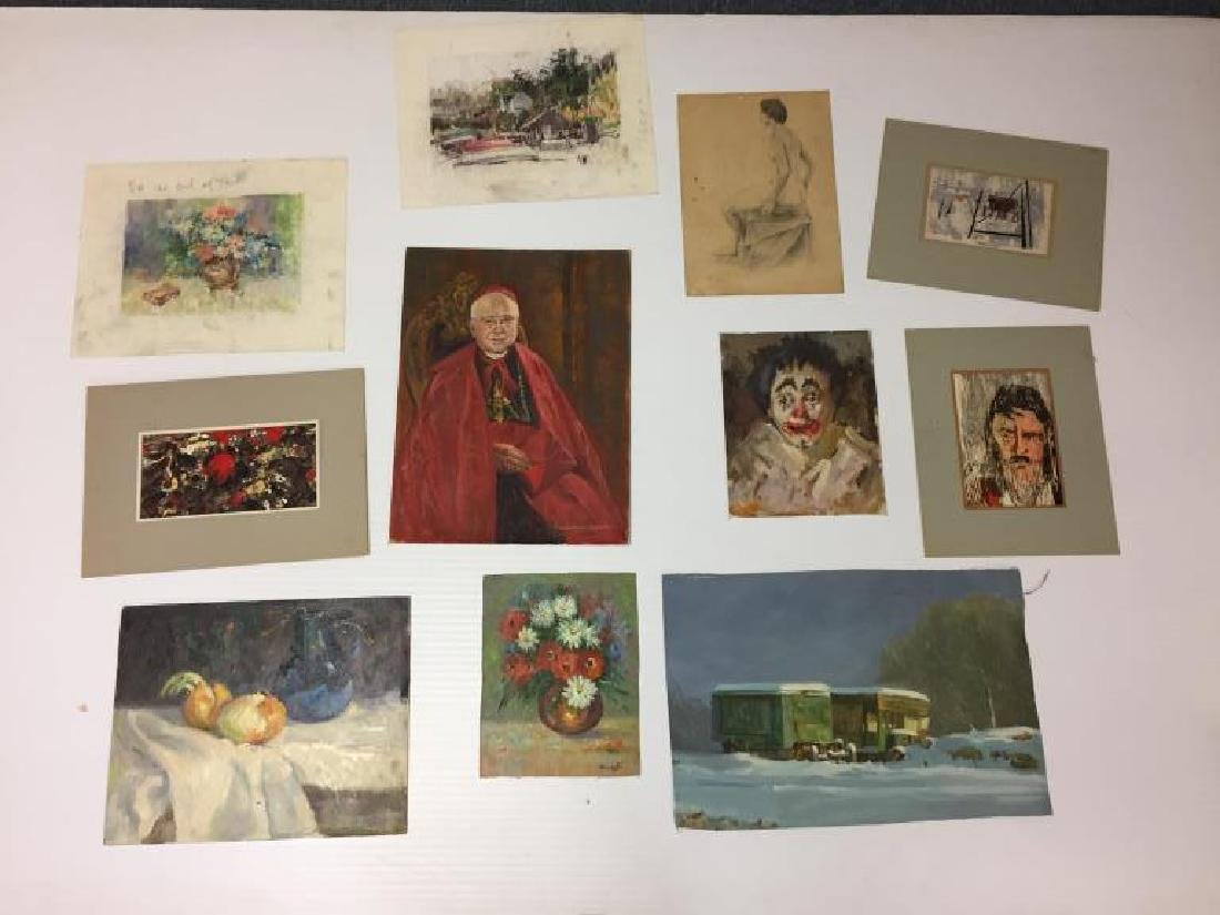 Frank Zuccarelli water color paintings lot