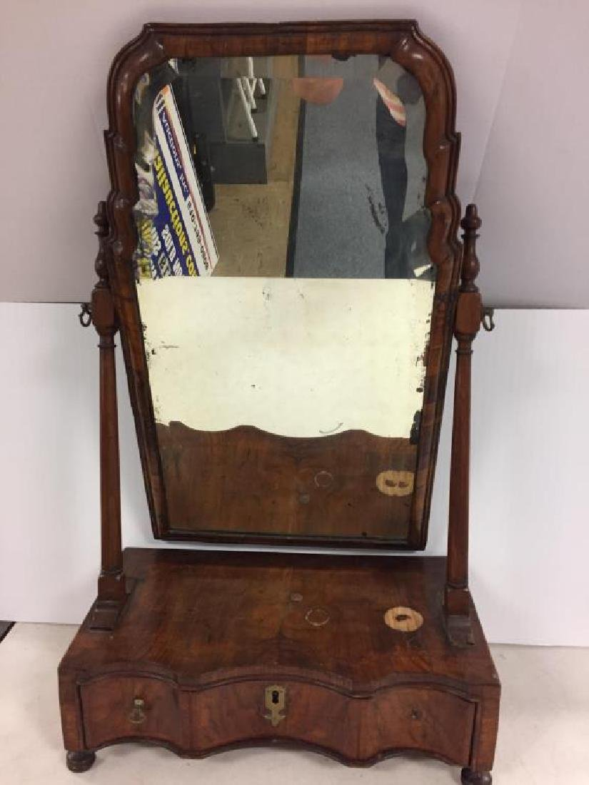 18th century English shaving mirror