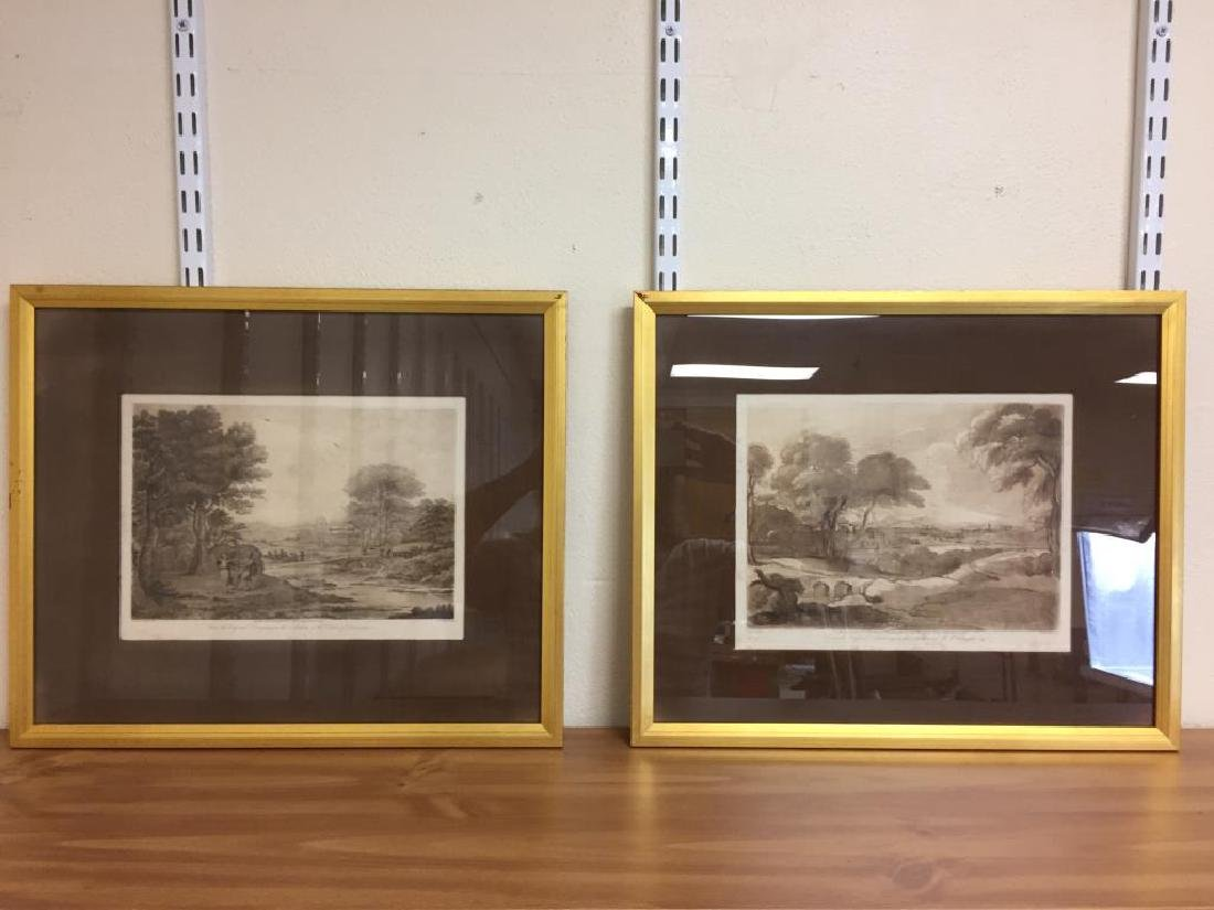 2 English country side prints
