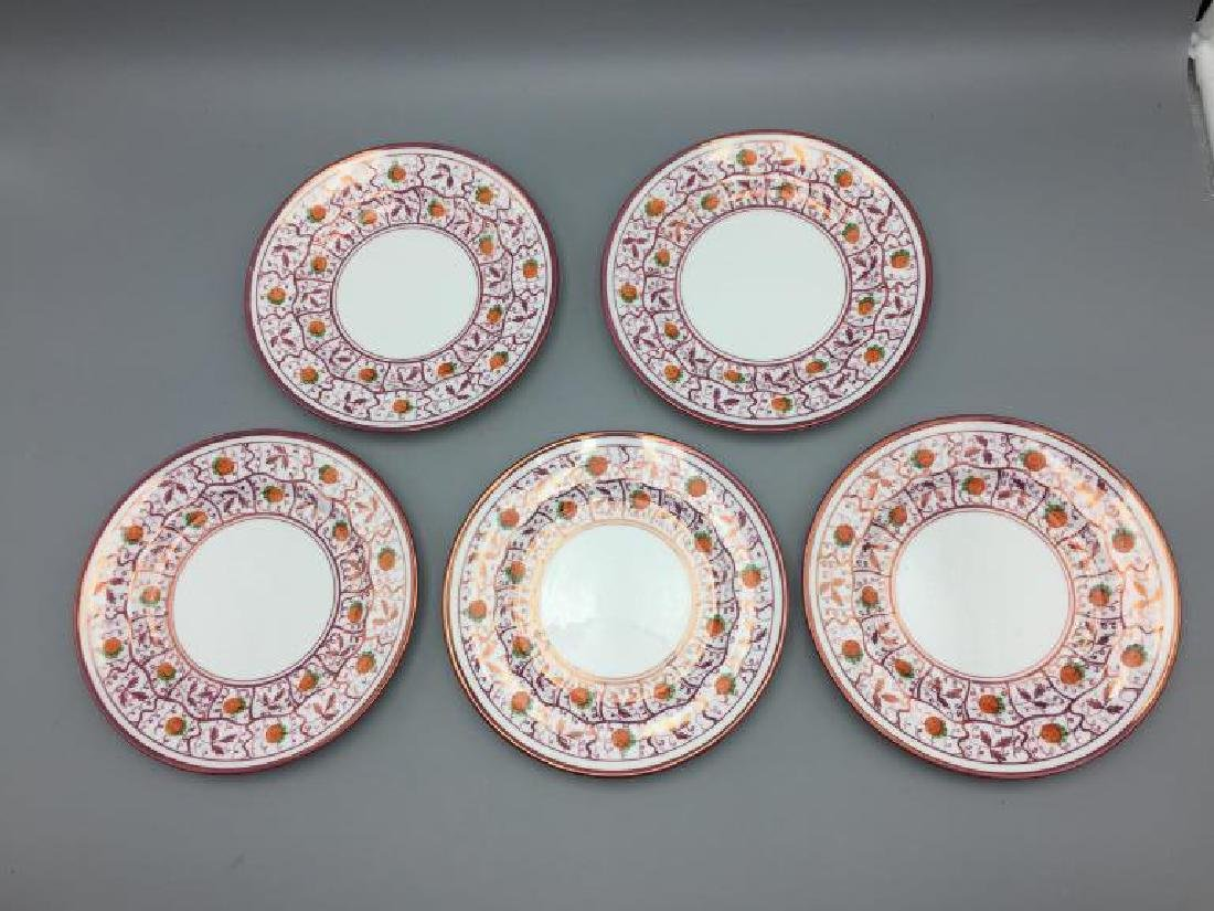 Pink Luster plates dishes & Wedgwood miniature - 2