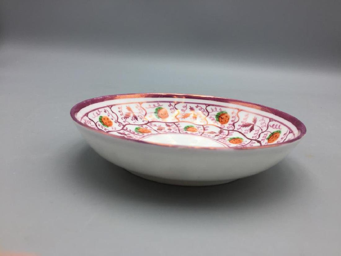 Pink Luster plates dishes & Wedgwood miniature - 5