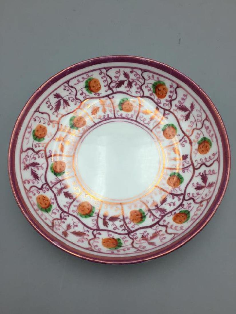 Pink Luster plates dishes & Wedgwood miniature - 6