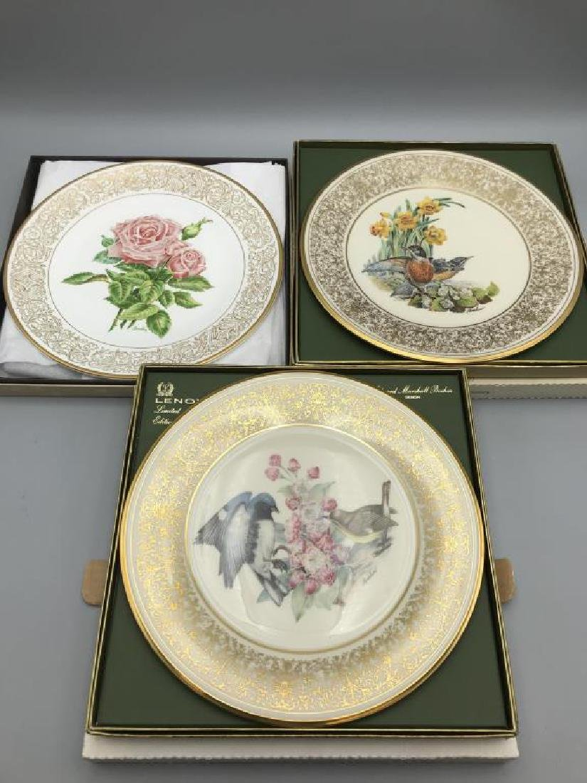 Lot of eight Lenox Boehm bird plates; 7 Limited