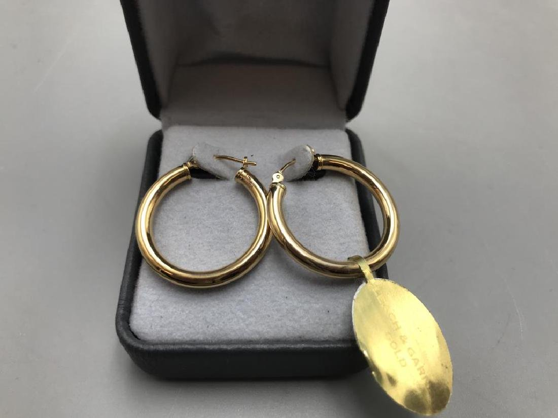 Gold band and earrings;  include 14 karat band,