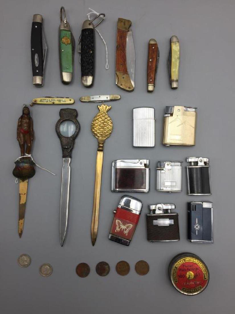 Pocket knives and lighters lot