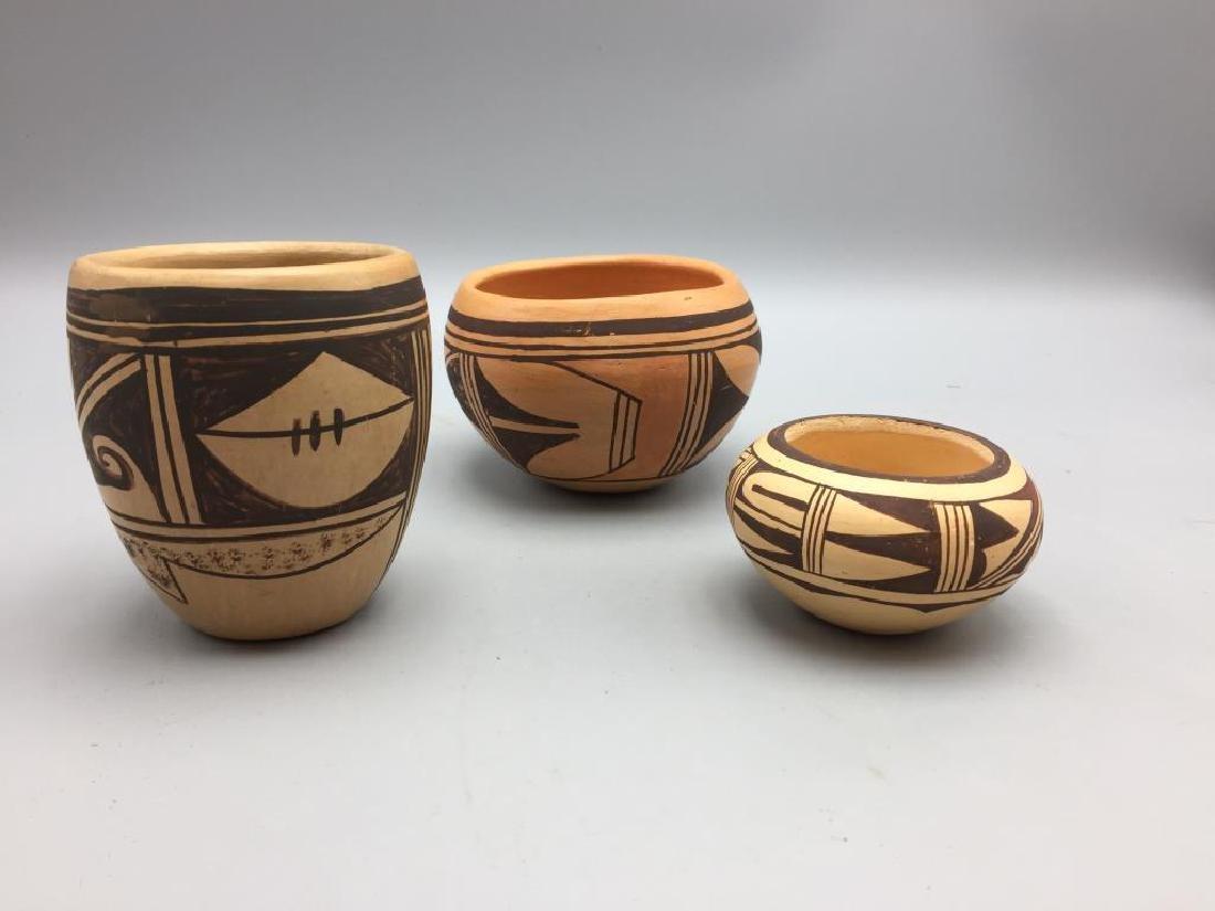 Lot of three American Indian pots