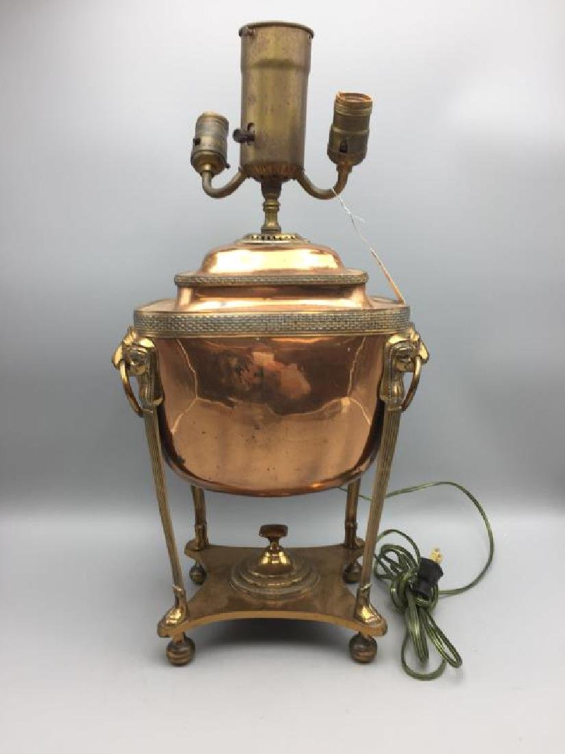 Large copper Samovar lamp