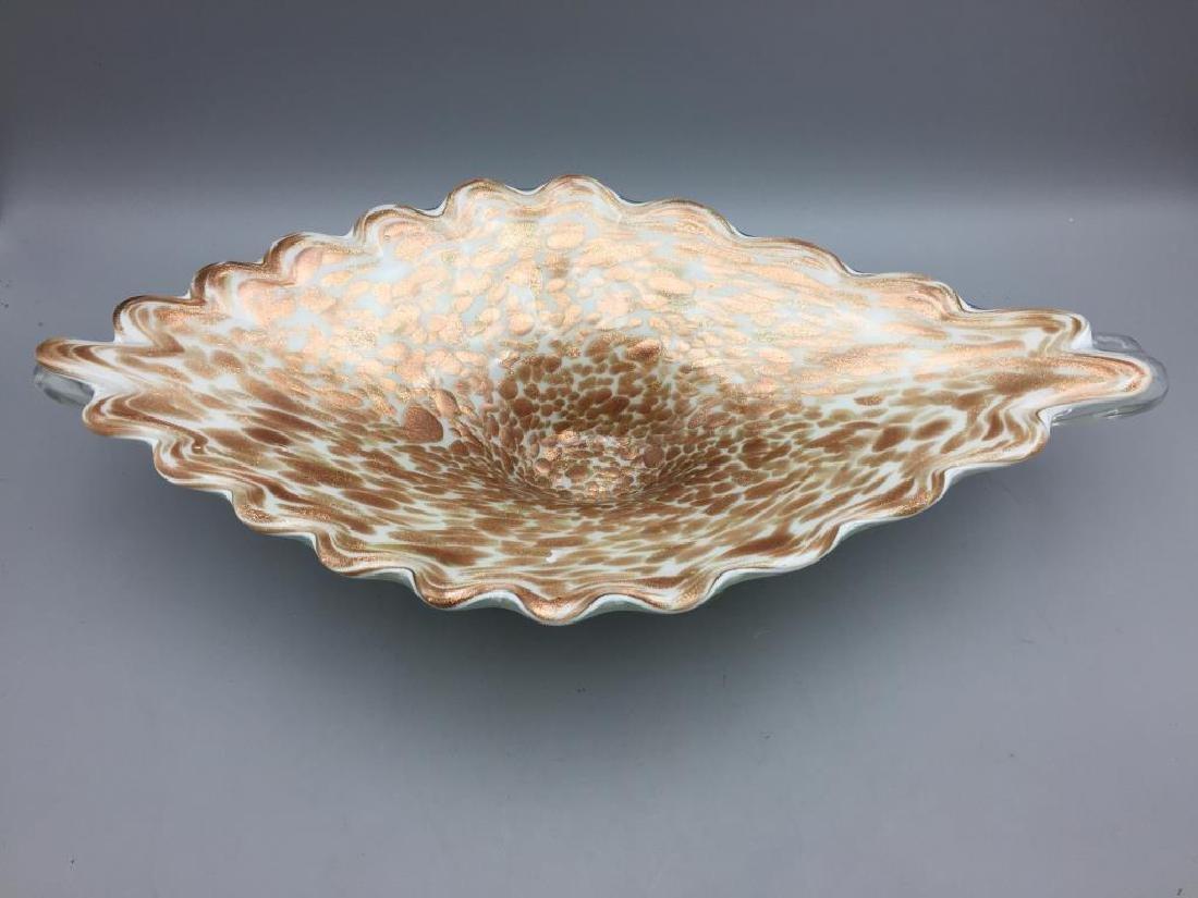 Venetian glass center bowl
