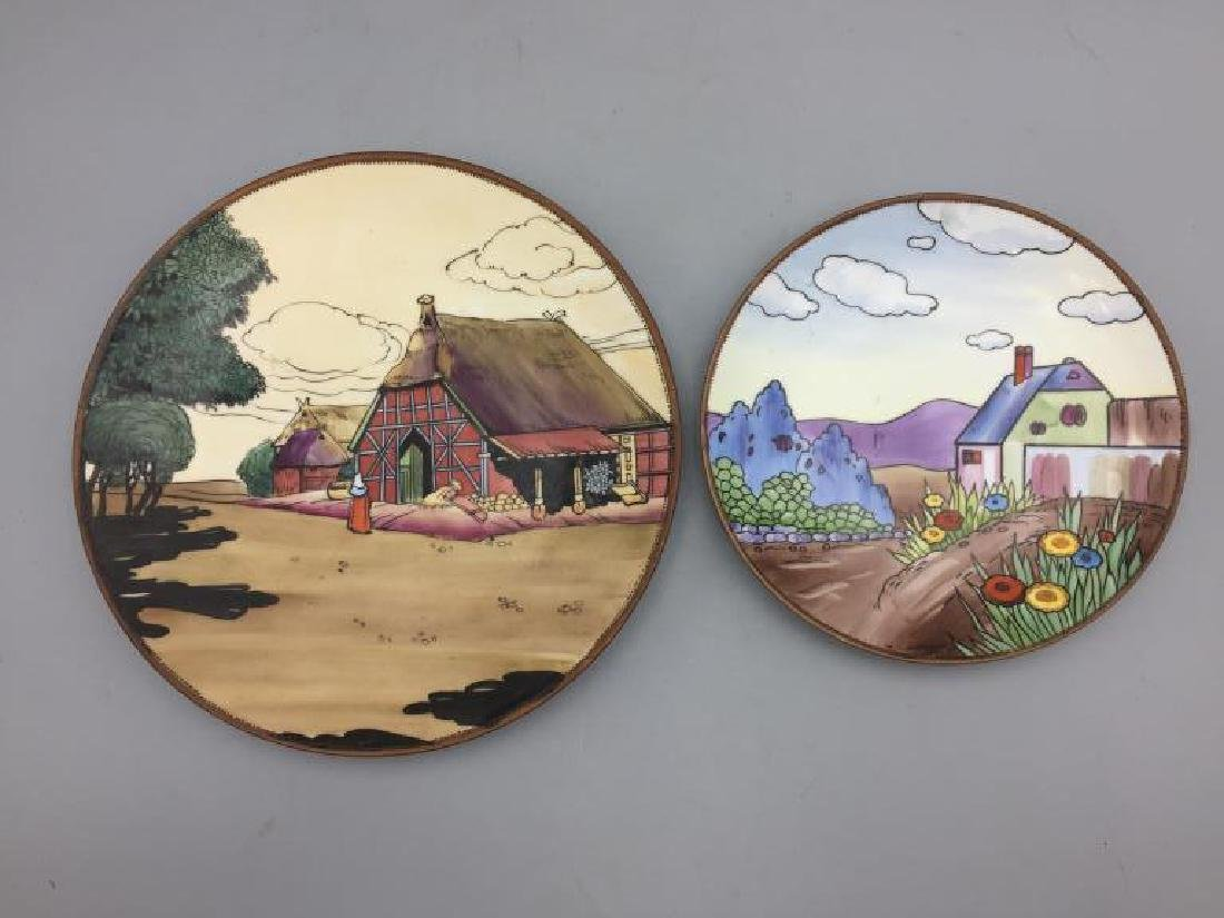 Lot of two hand-painted Nippon plates