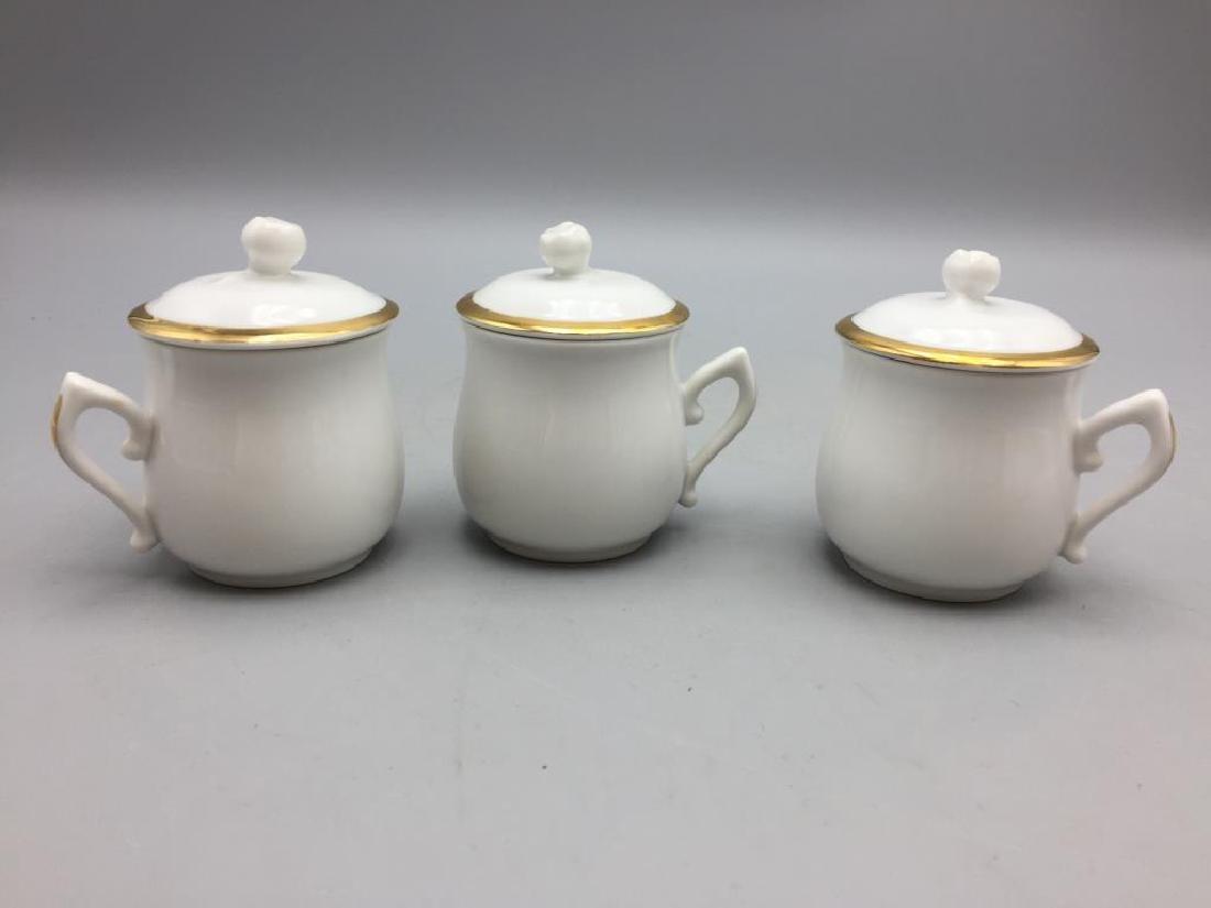 Royal Worcester set of six porcelain pots with - 2