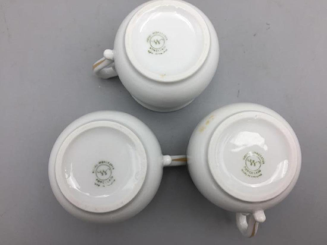 Royal Worcester set of six porcelain pots with - 7