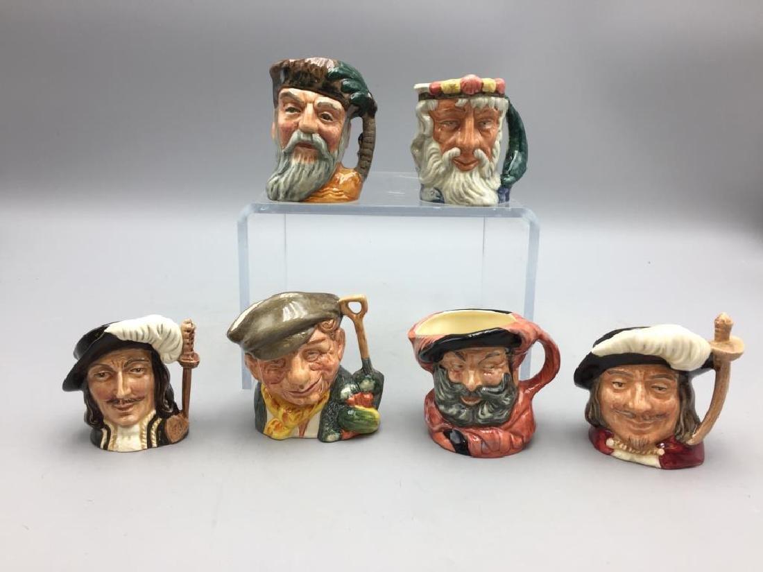 Lot of 6 Royal Doulton Toby mugs