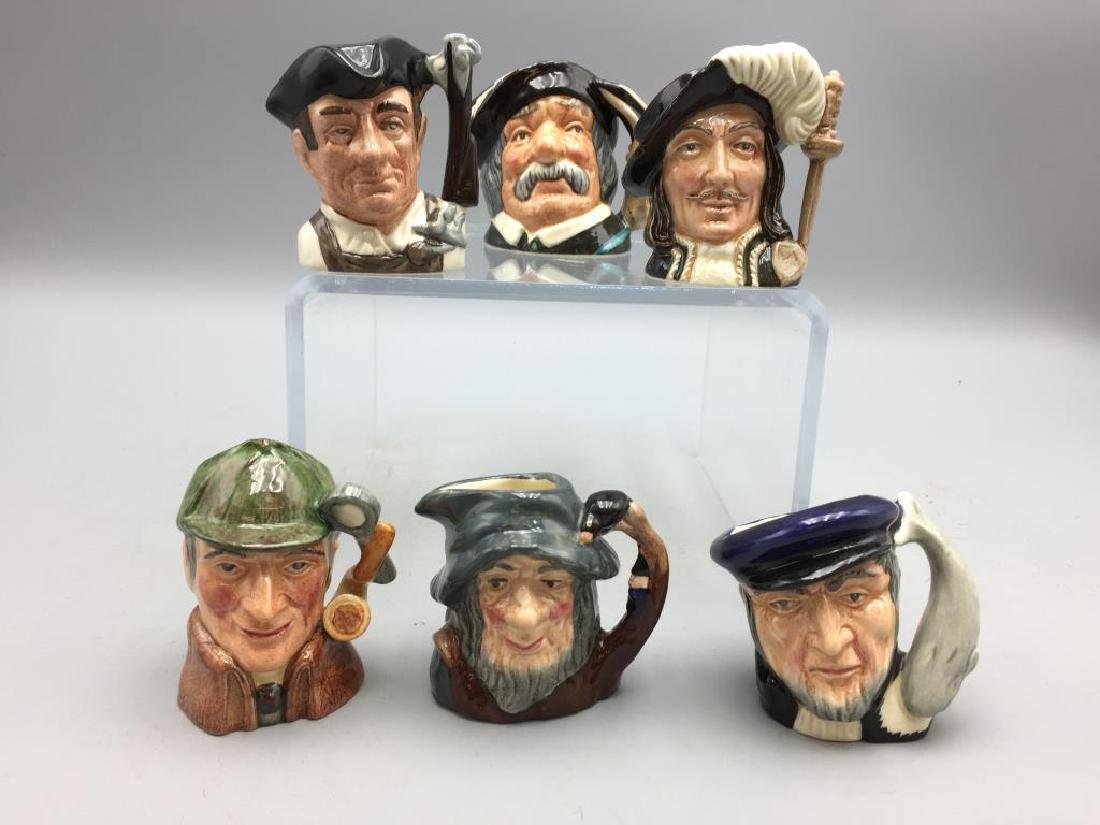 Lot of six Royal Doulton Toby mugs