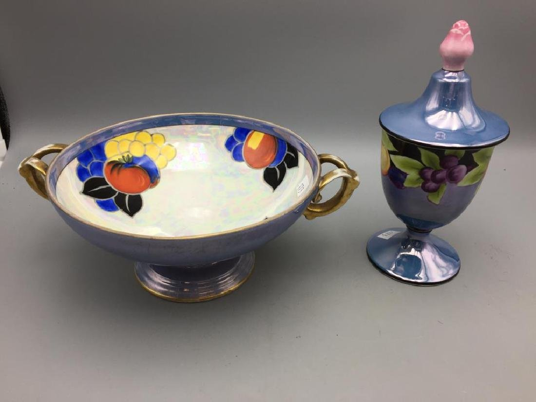 Lot of 2 Noritake  hand painted items