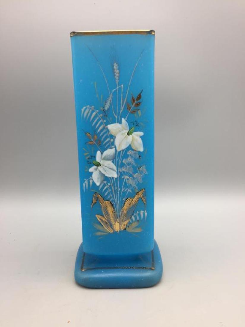 Victorian enamel vase