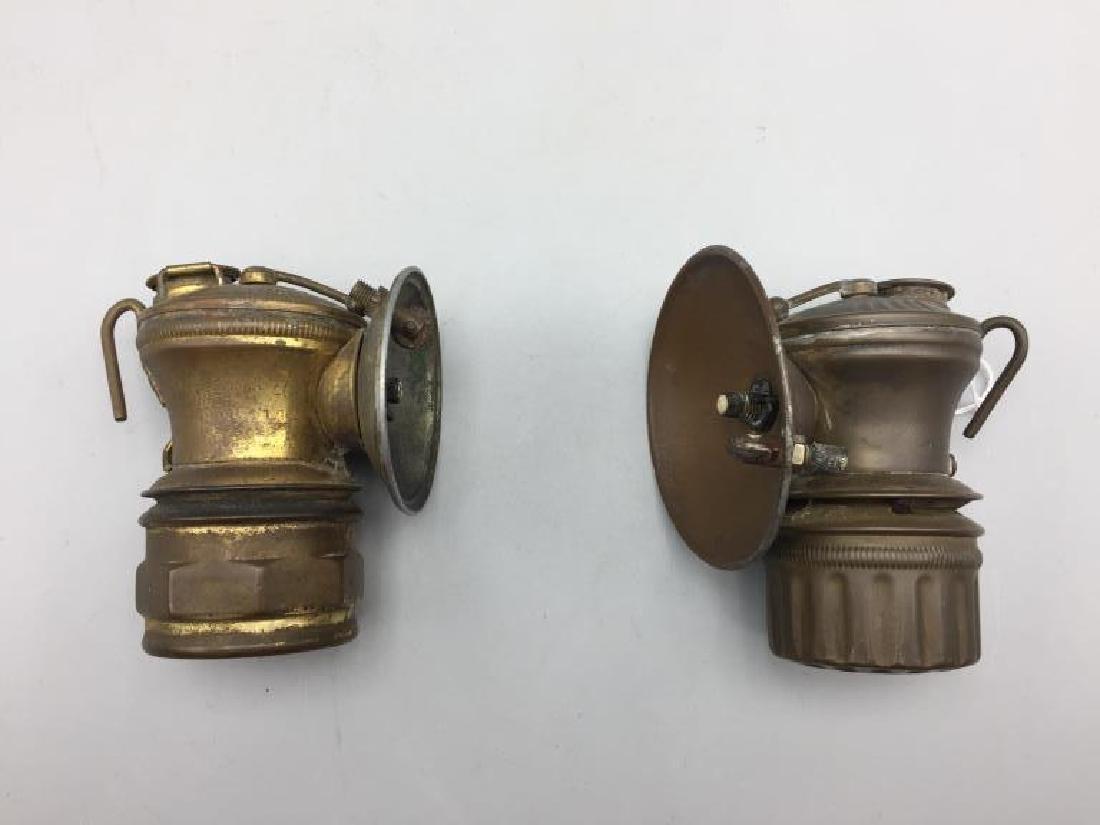 2 antique automobile lanterns - 2