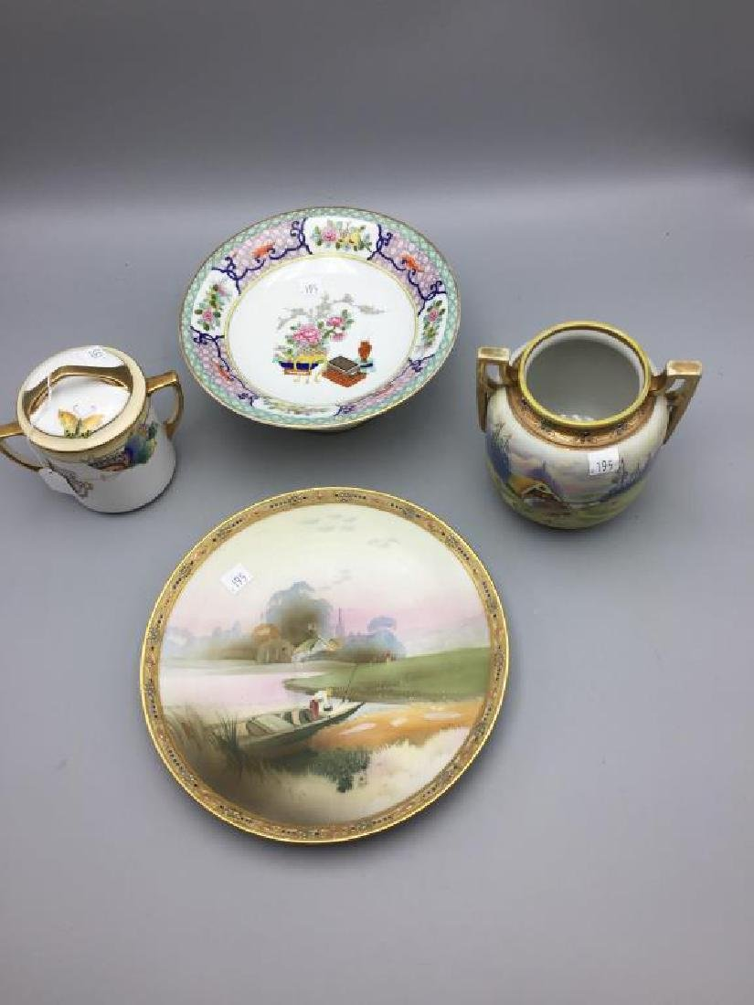 Lot 4 pieces Nippon porcelain