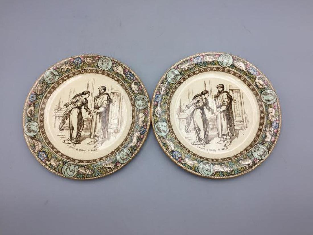 Lot of eight Ivanhoe Wedgewood plates - 7