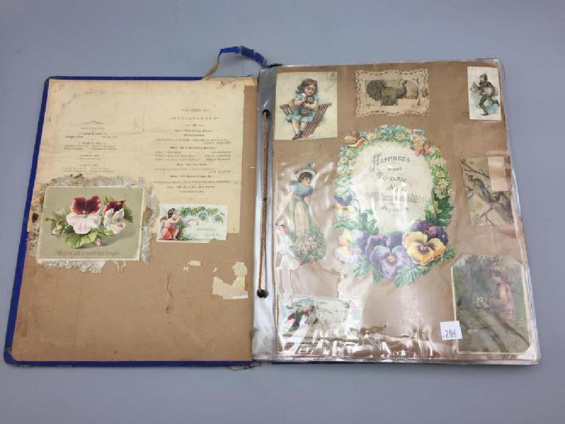 Rare Victorian scrap book - 2
