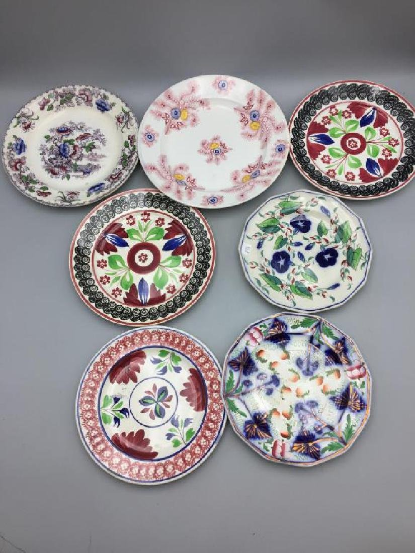 Grouping of 7  various  plates