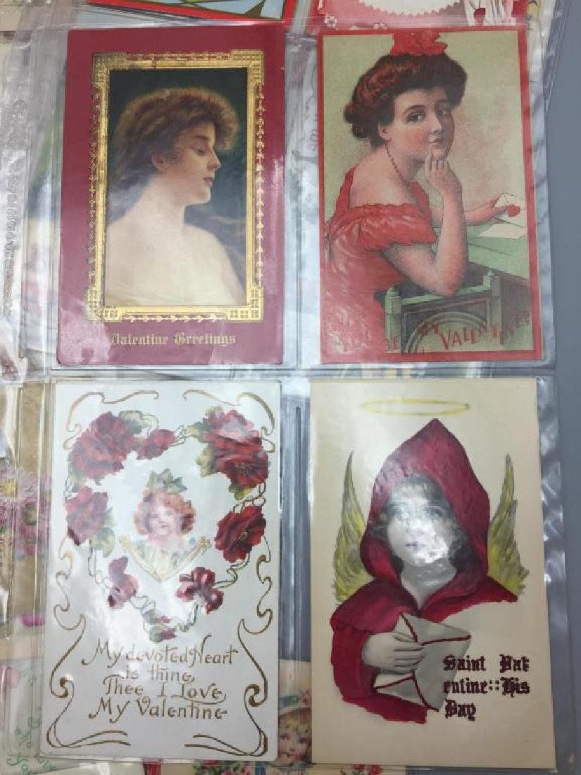 Antique Grouping of Valentine's  day postcards - 2