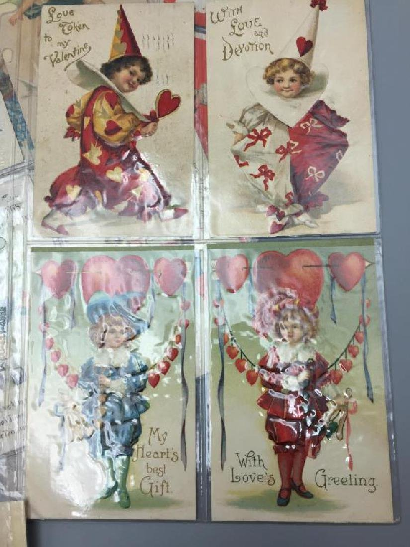 Antique Grouping of Valentine's  day postcards - 3