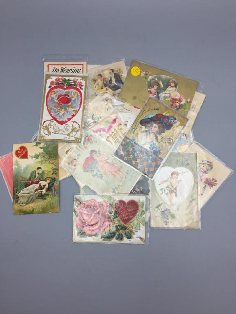 Antique Grouping of Valentine's  day postcards - 6