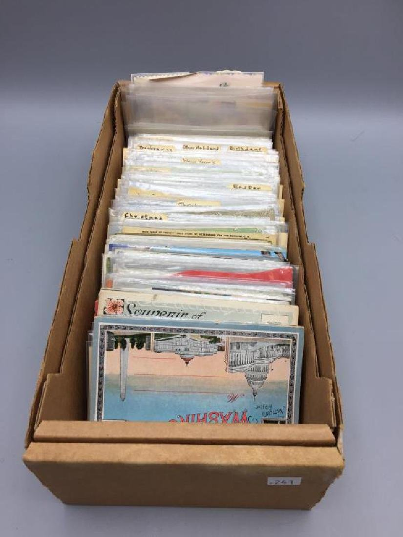 Large Lot of antique postcards