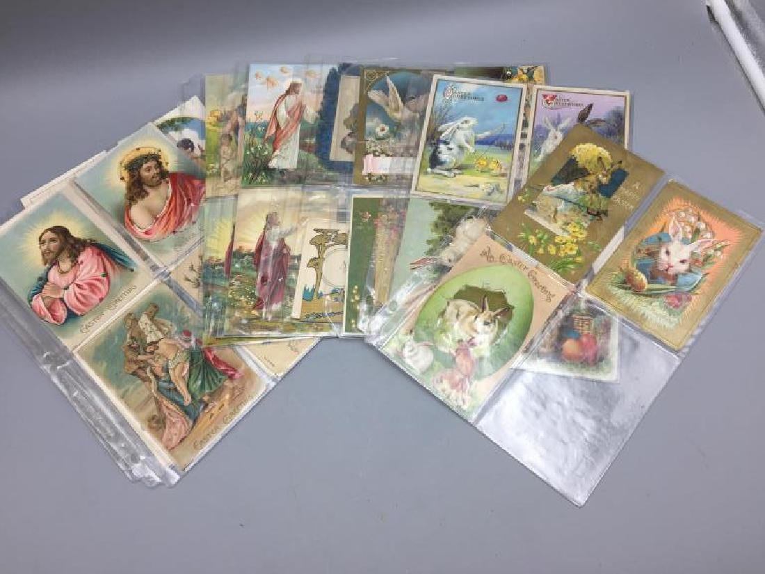 Large lot religious & Easter postcards - 2