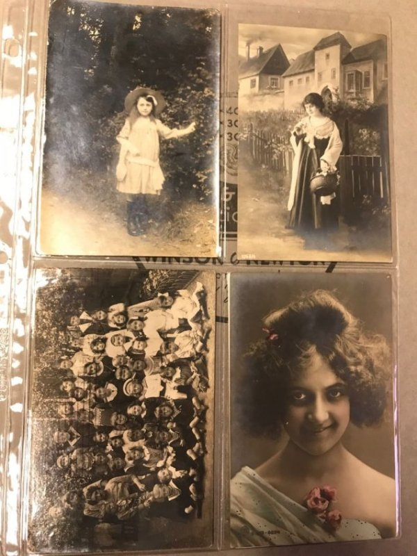 Large grouping of antique postcards - 2