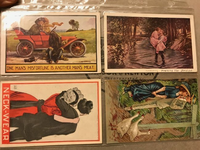 Large grouping of antique postcards - 3